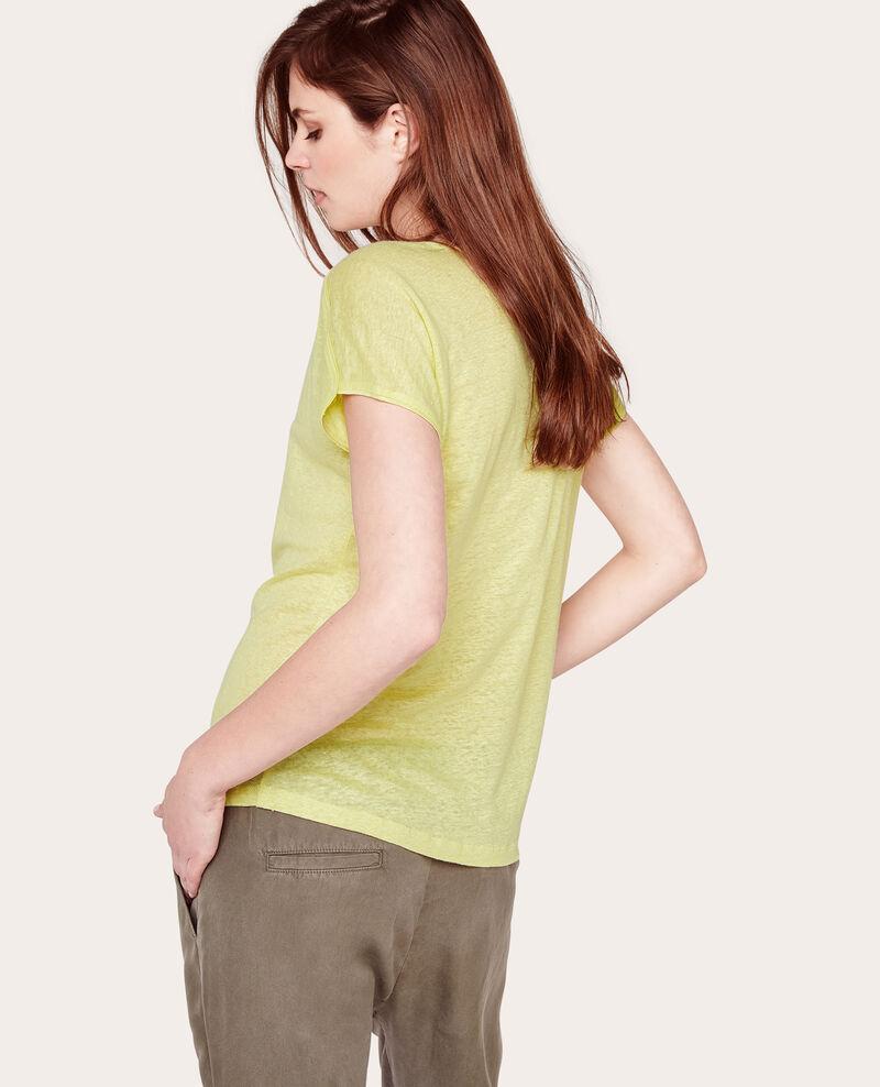 Camiseta de lino irisado Limoncello Ace