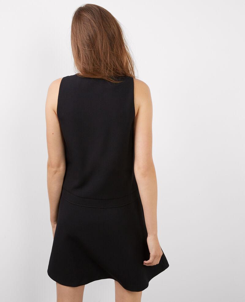 Robe structurée sans manche Noir Badaboum