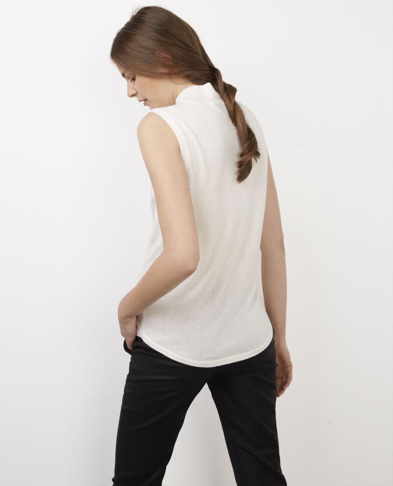 Sleeveless jumper with mock-turtleneck collar Off white Benoit