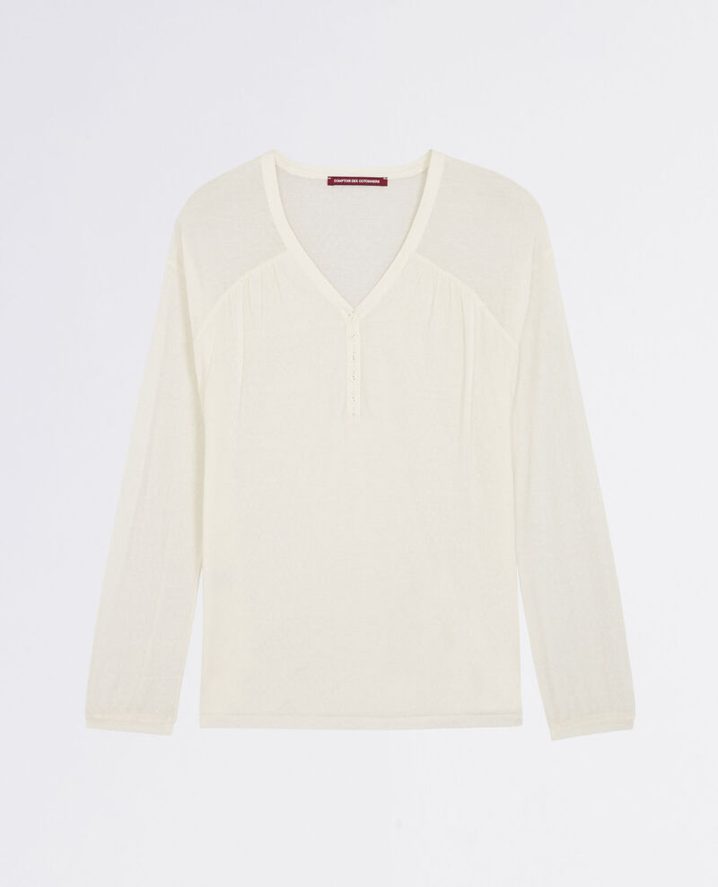 T-Shirt im Stil einer Bluse Blanc Cocoon