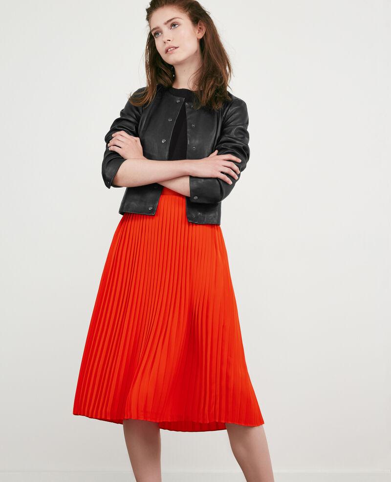 Jupe plissée Orange red Dallerine