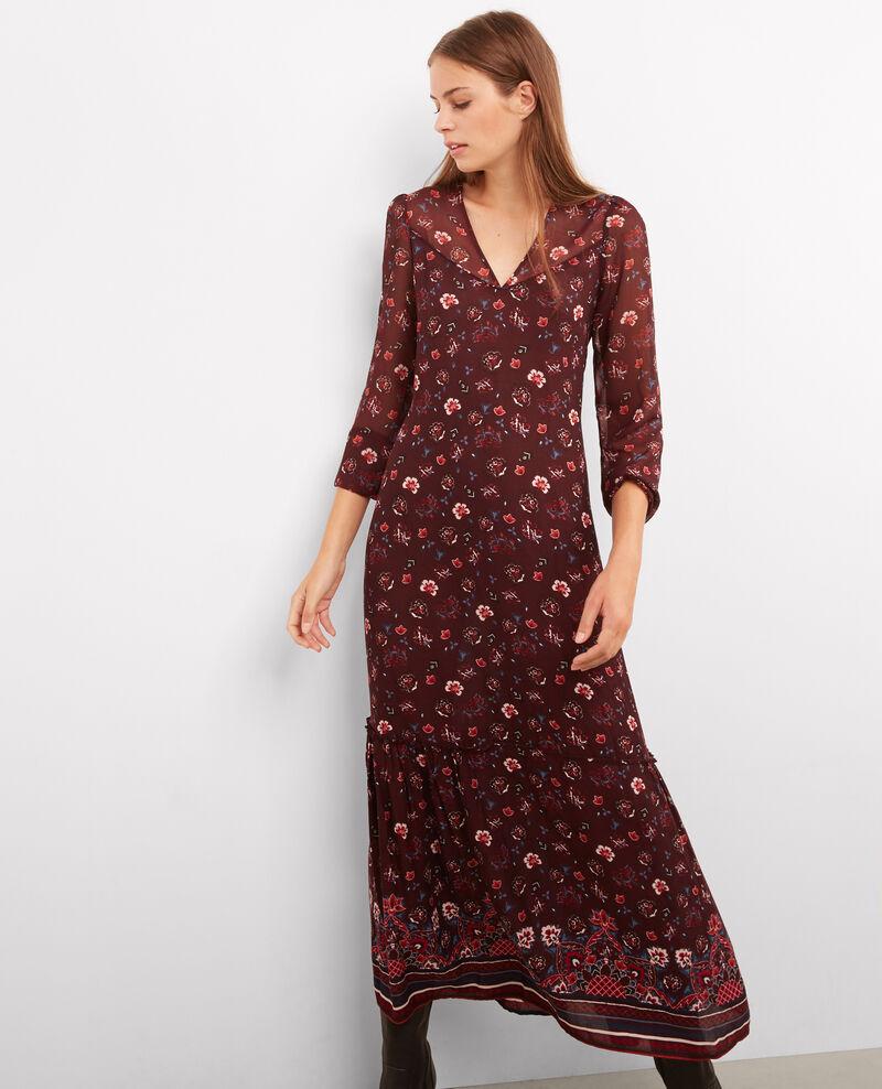 robe longue imprim e woodstock rouge ballenge comptoir des cotonniers. Black Bedroom Furniture Sets. Home Design Ideas