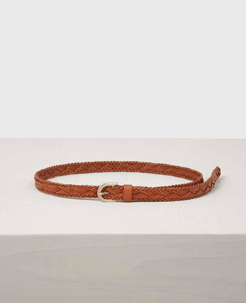 Braided leather belt Platane Cancan