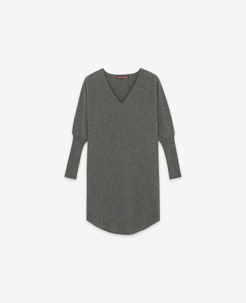 Robe en 100% cachemire Dark heather grey Duglamour