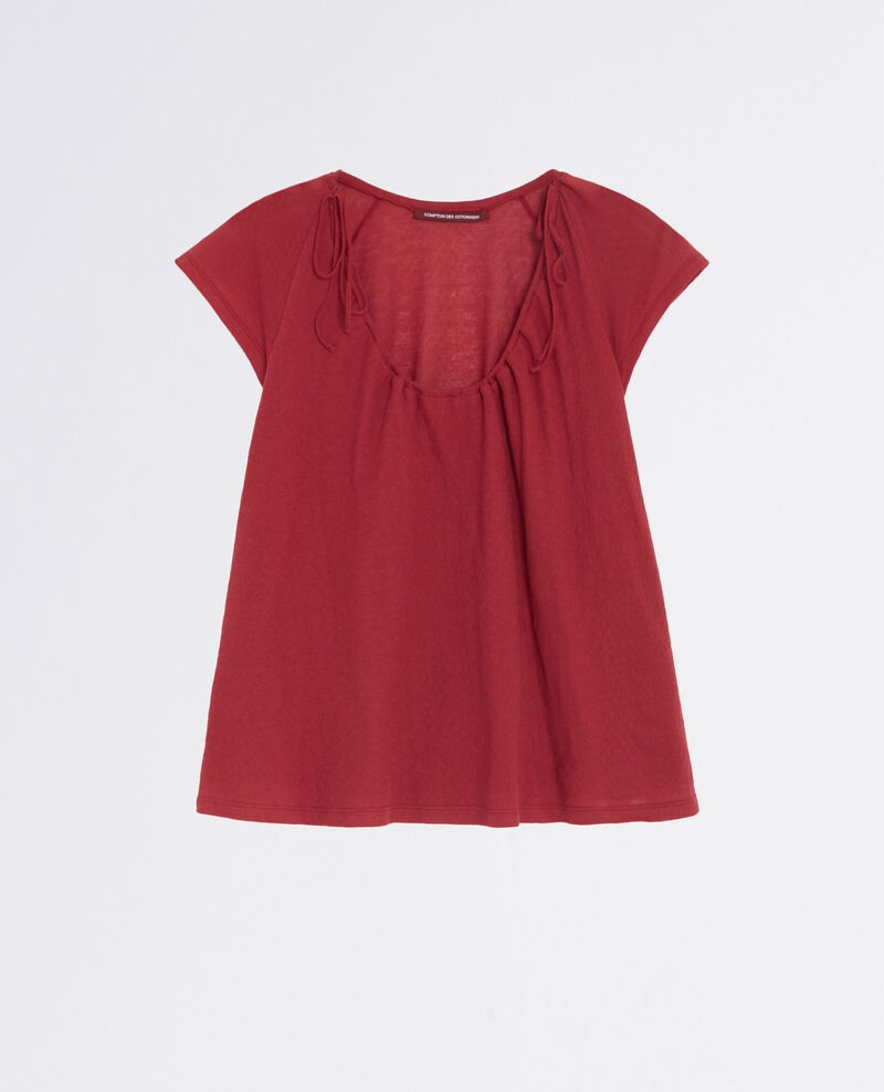 T-shirt with drawstring detail Raspberry Caracas