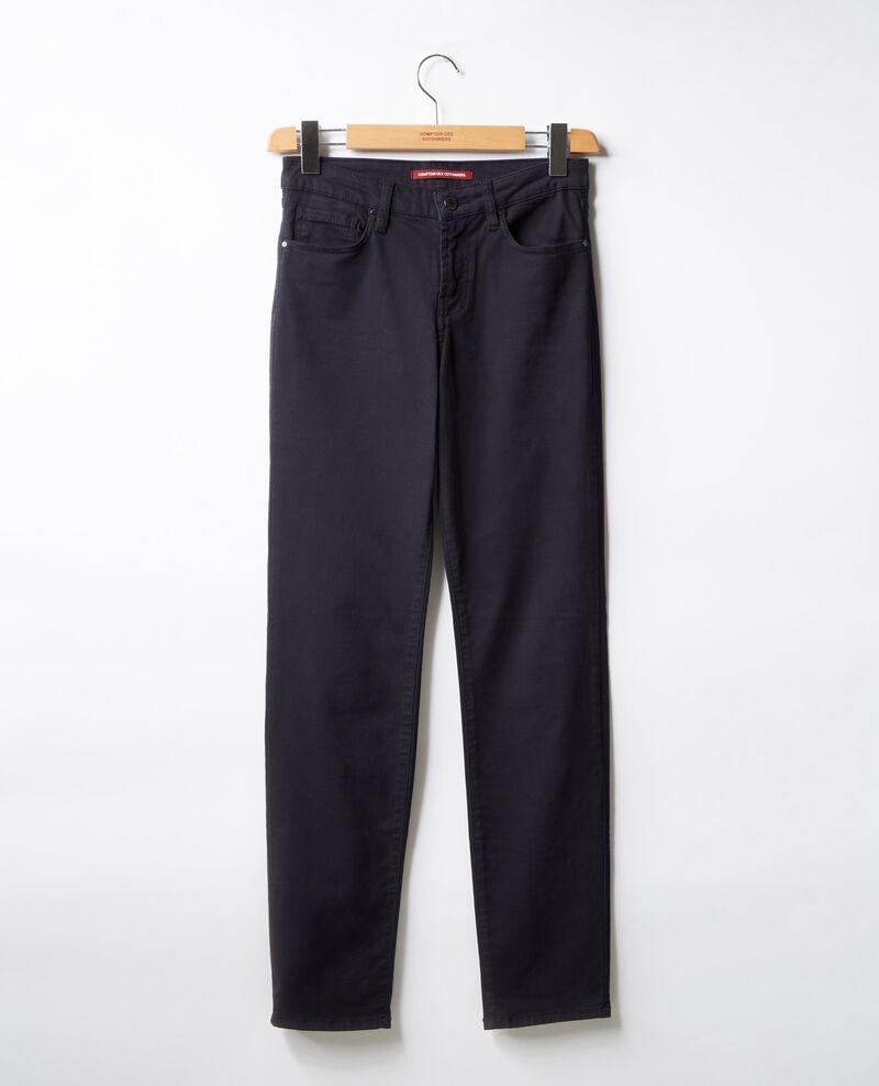 Jeans cigarette tacto piel de melocotón Navy Dhanna