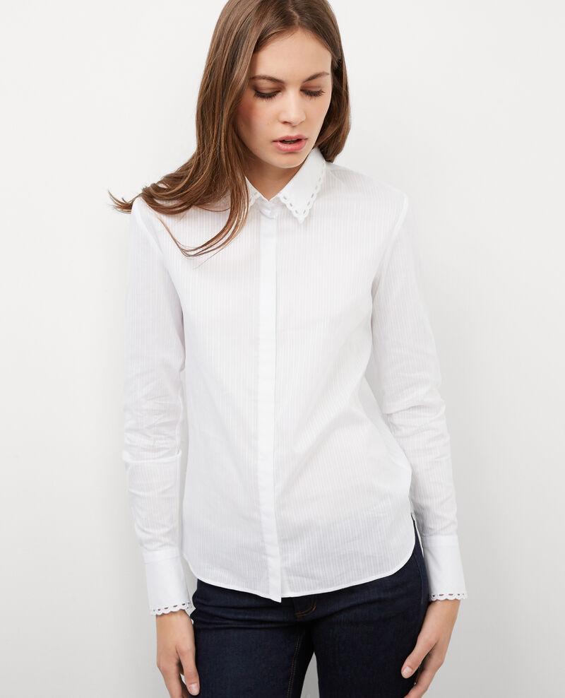 bluse mit besticktem kragen blanc blackwhite comptoir des cotonniers. Black Bedroom Furniture Sets. Home Design Ideas