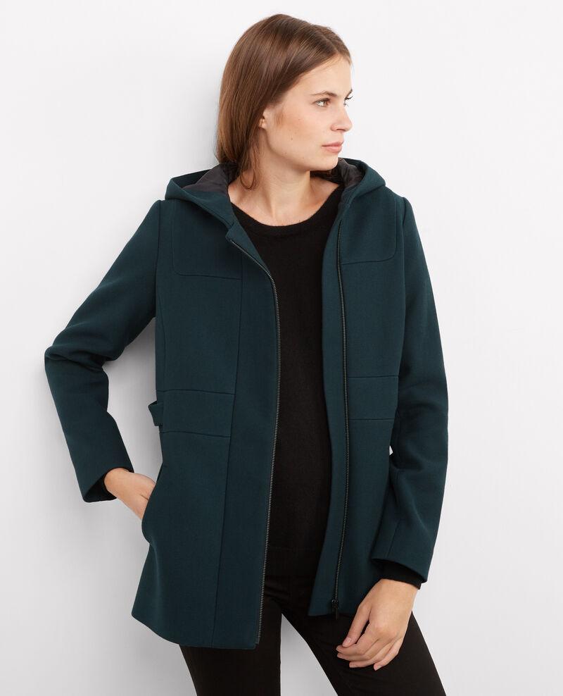 Manteau avec laine et coton orion birthday comptoir - Manteau bi matiere comptoir des cotonniers ...