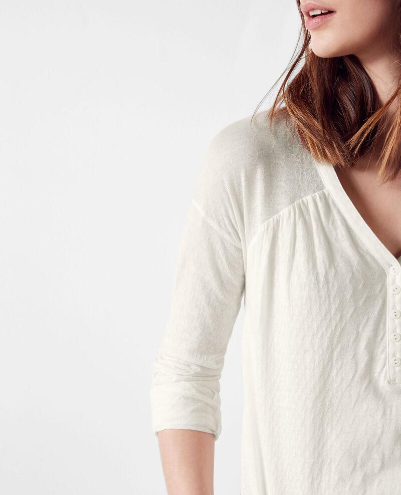 Camiseta estilo blusa Blanc Cocoon