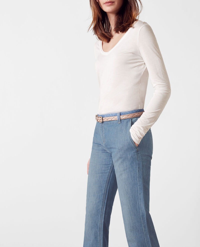 """Folie douce"" high-waisted flare jeans Beach blue Charleston"