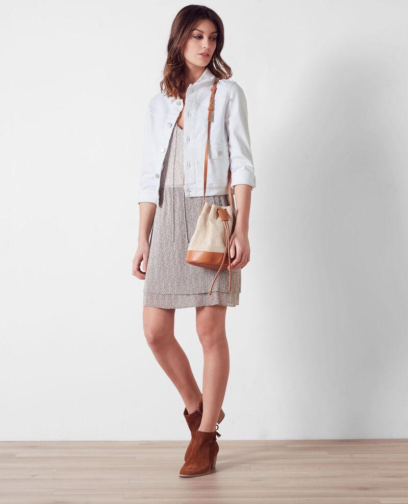 Kurze Jeans-Jacke Blanc Centaine
