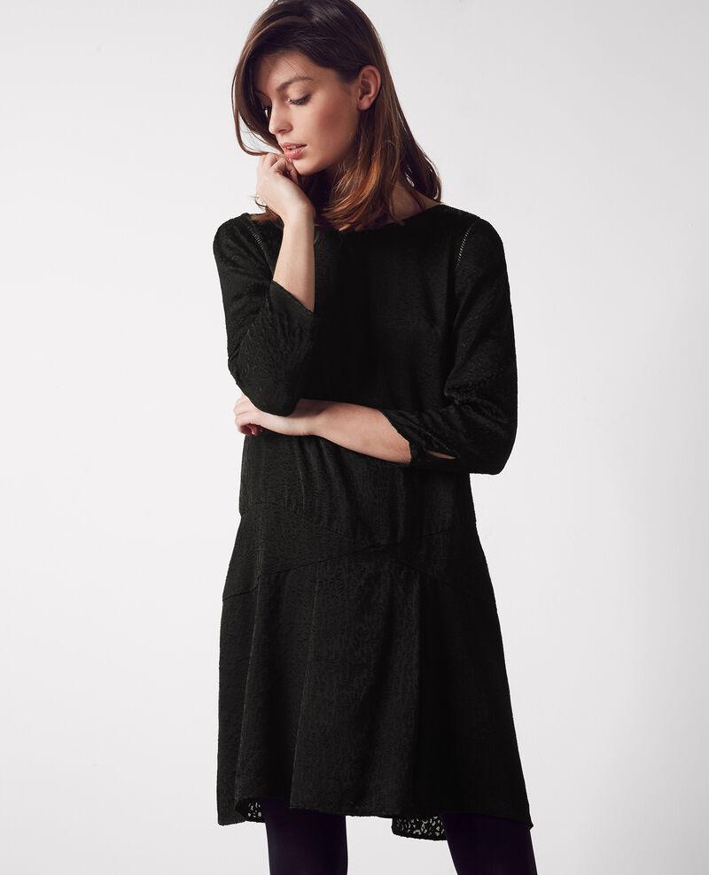 Vestido con detalles calados Noir Cristal