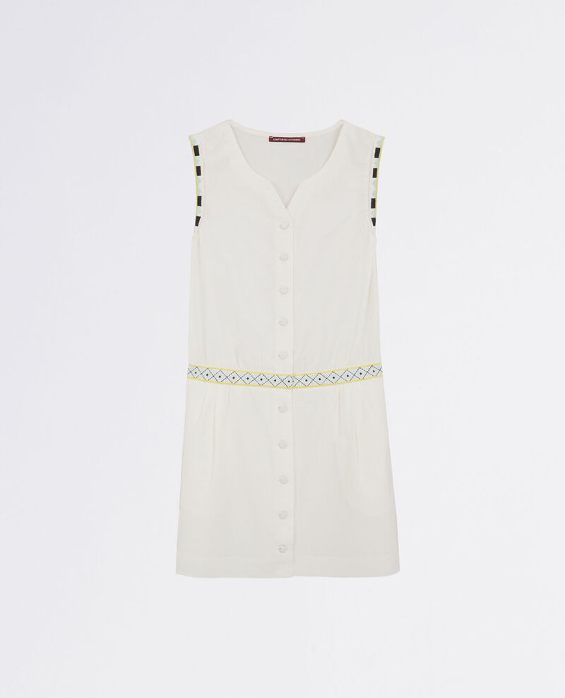 2-in-1 embroidered silk and linen dress Lin Citronnelle