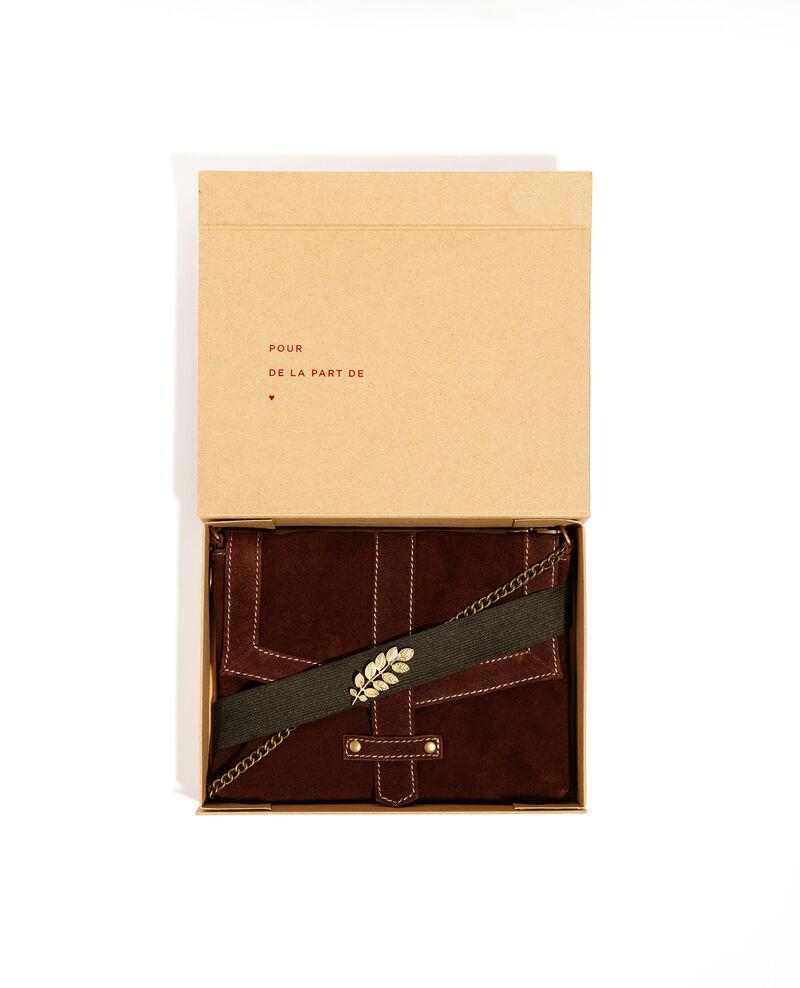 Boîte cadeau - petit sac en cuir et broche Maroon Bellenuit