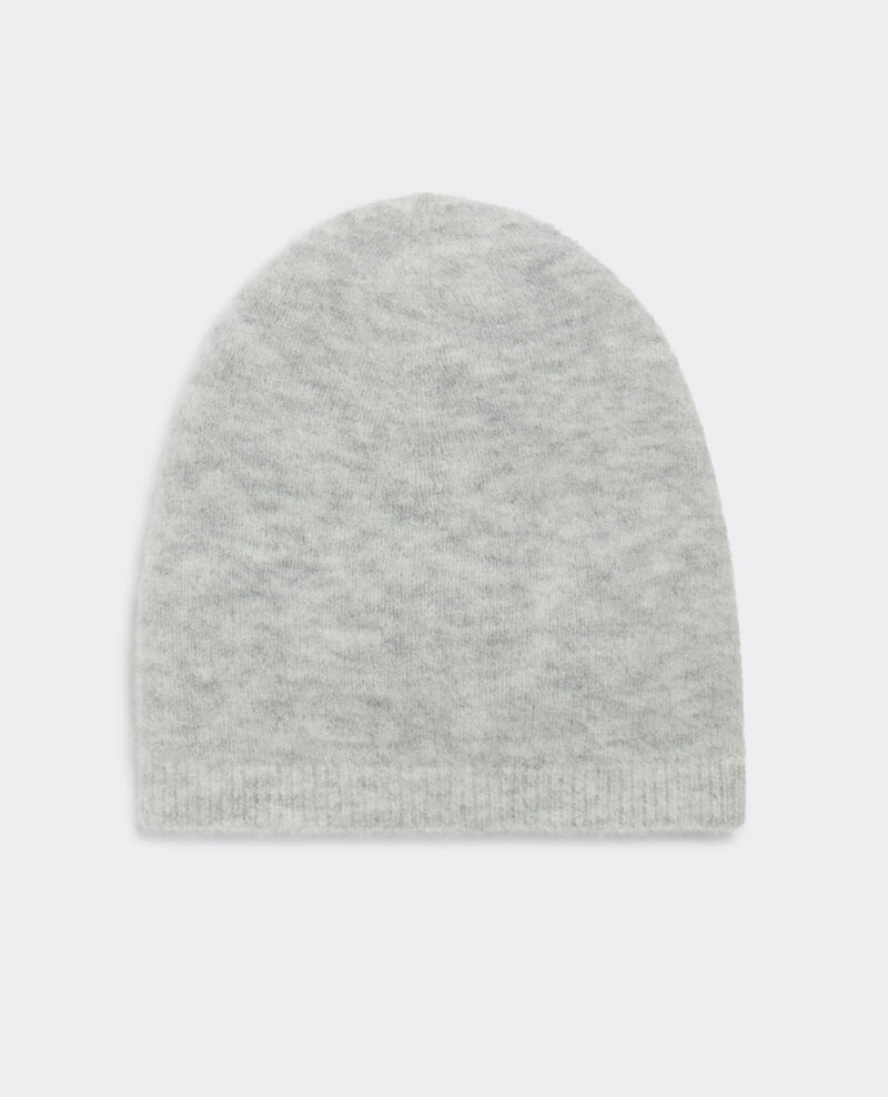Gorro con lana y alpaca Light grey Becife