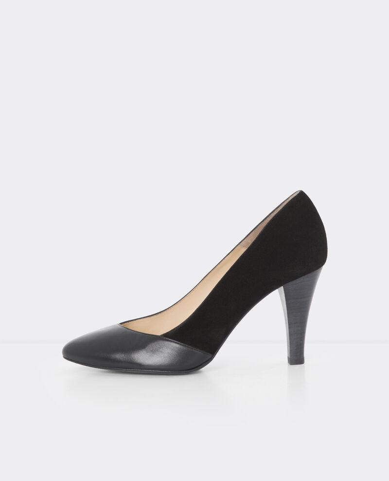 escarpins en cuir noir ballet comptoir des cotonniers. Black Bedroom Furniture Sets. Home Design Ideas