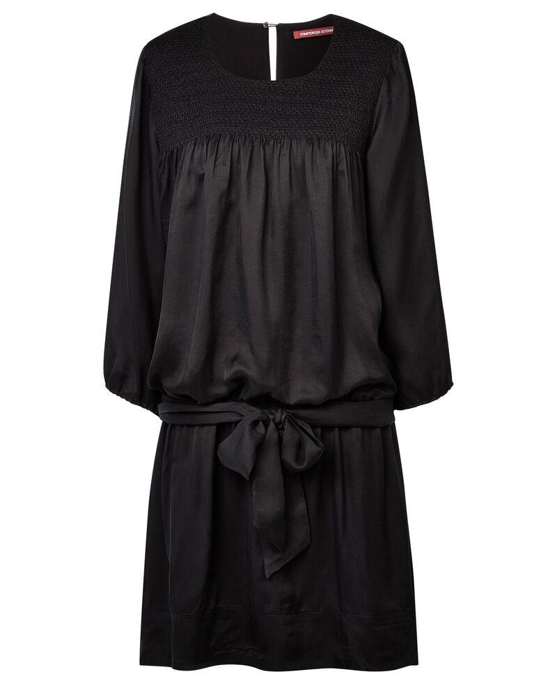 Robe avec détails de smock Noir Ayah