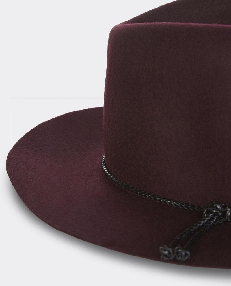 Sombrero de lana Maroon Banneret