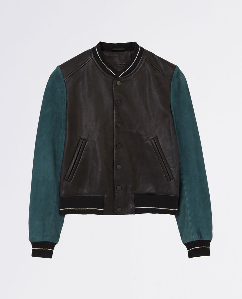 Leather teddy jacket Midnight Caddy