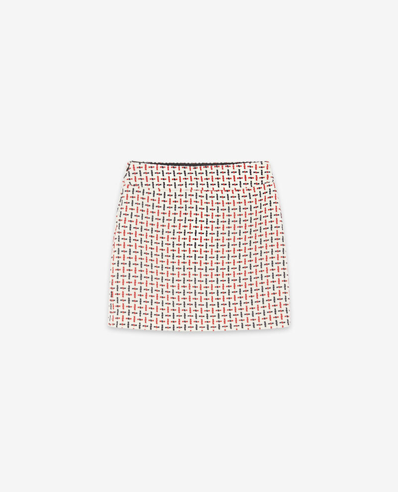 Wool blend tweed skirt Off white Dastel