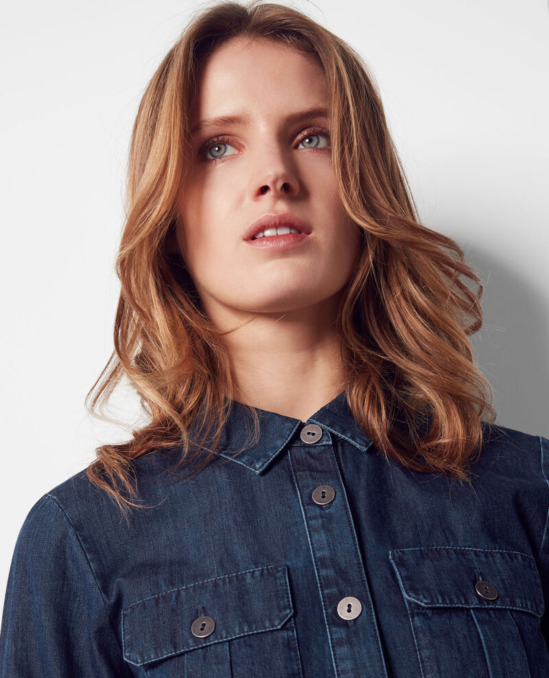 Camisa en denim Dark blue Coquelicot