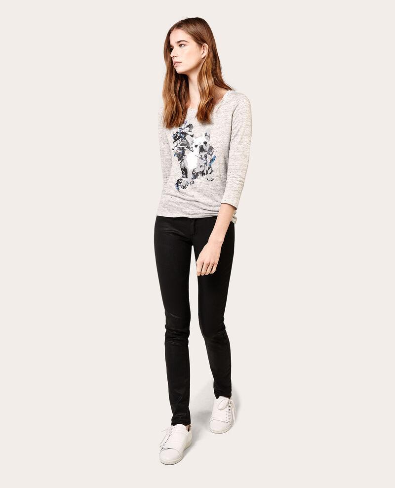 Jeans skinny resinados Noir Allblack