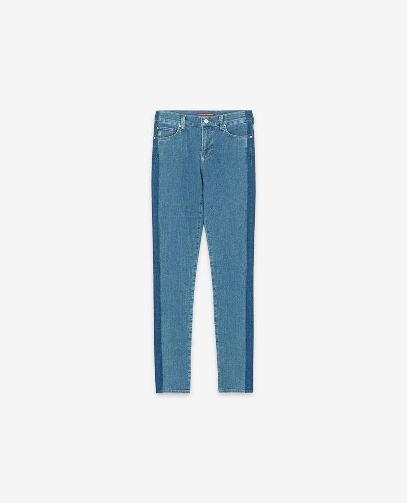 Jeans skinny bicolore Indigo stripe Disquaire