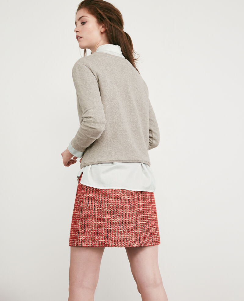 Sweater with Léon print Light heather grey Dhavirer