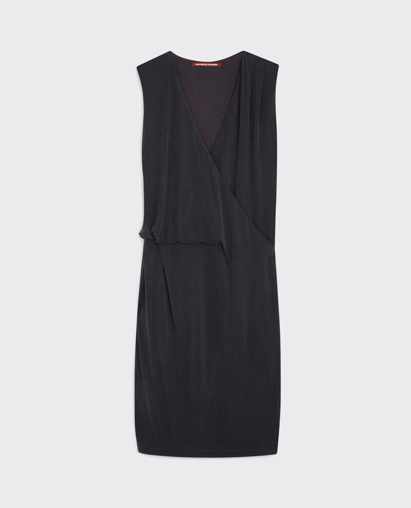Enges Cache-cœur-Kleid Noir Calimba