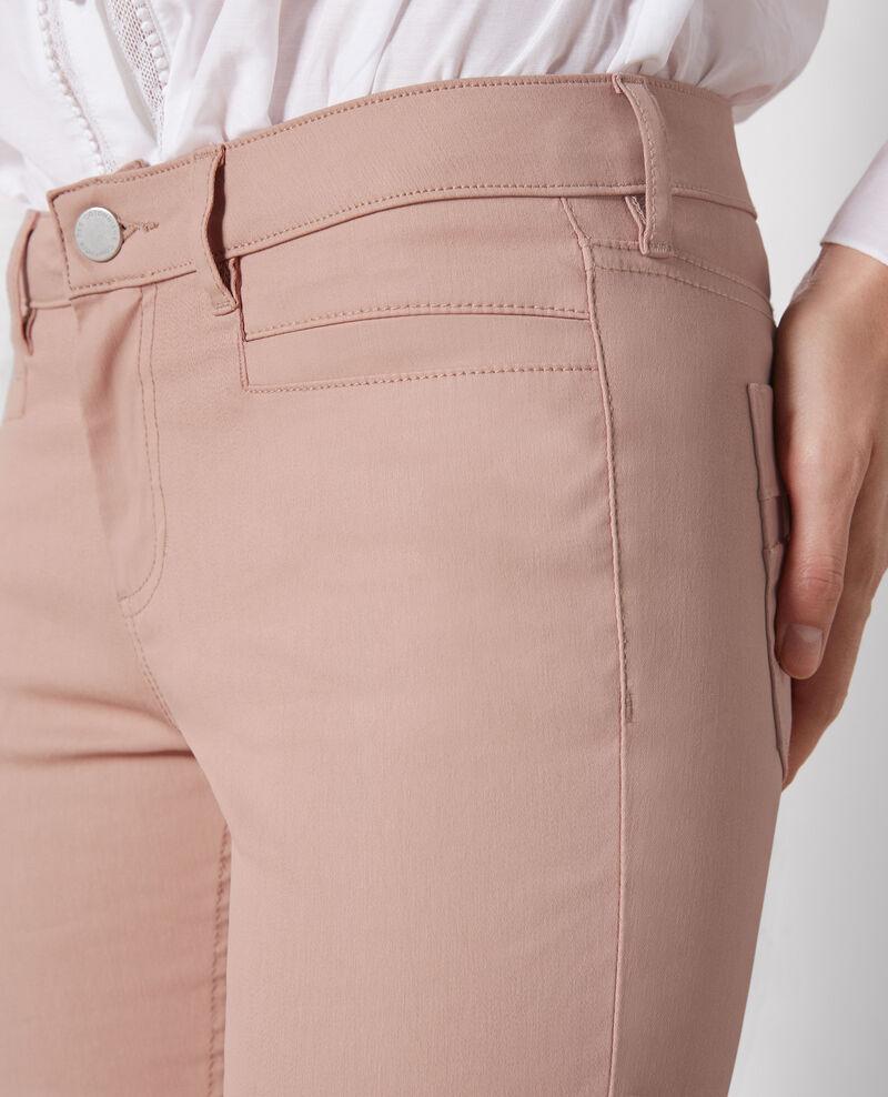 "Beschichtete Slim-Jeans ""Ma demoiselle"" Peach Crocodile"