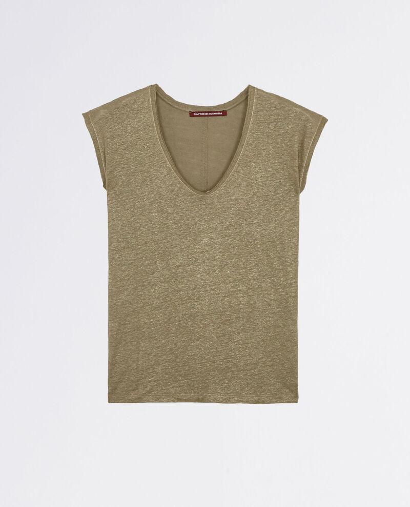 T-Shirt irisé en lin Veronese Citron