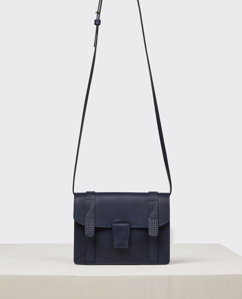 Mini cartable en cuir Ink blue Cecile