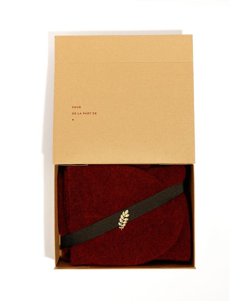Caja regalo - bufanda, gorro de alpaca y broche Cardinal Bellebox
