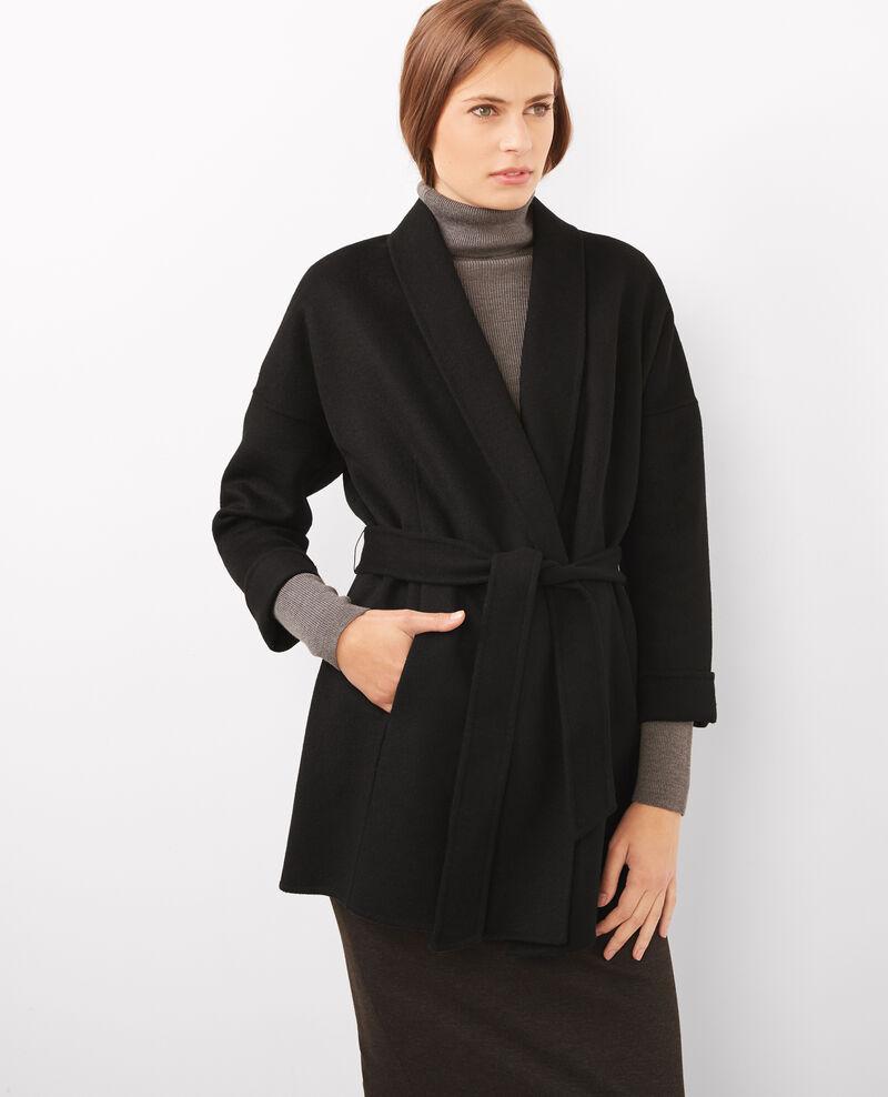 Abrigo con lana Noir Bonbi