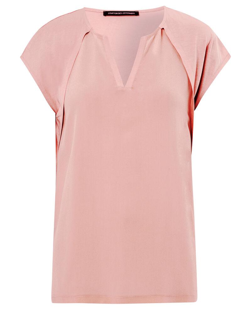Camiseta de dos tejidos con seda Nude Atlanta