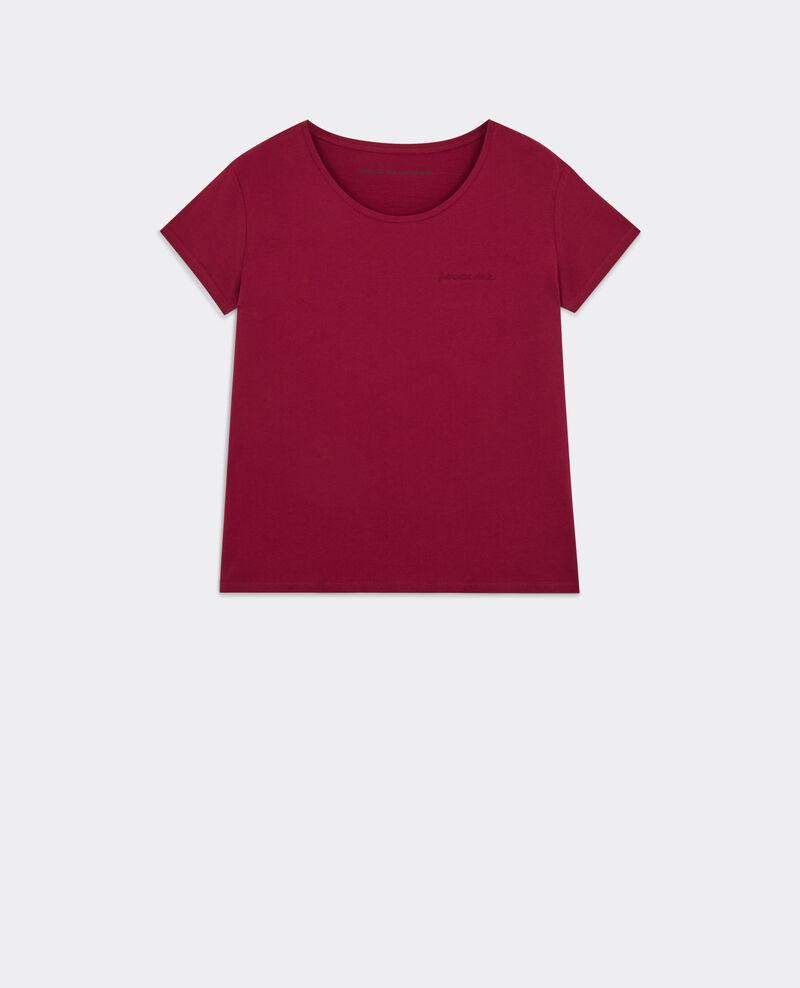 Camiseta con mensaje Française Chérie Cardinal Bright