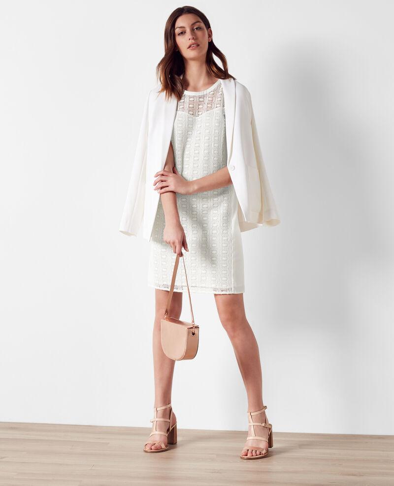 Robe en dentelle off white clematite comptoir des - Robe col claudine comptoir des cotonniers ...