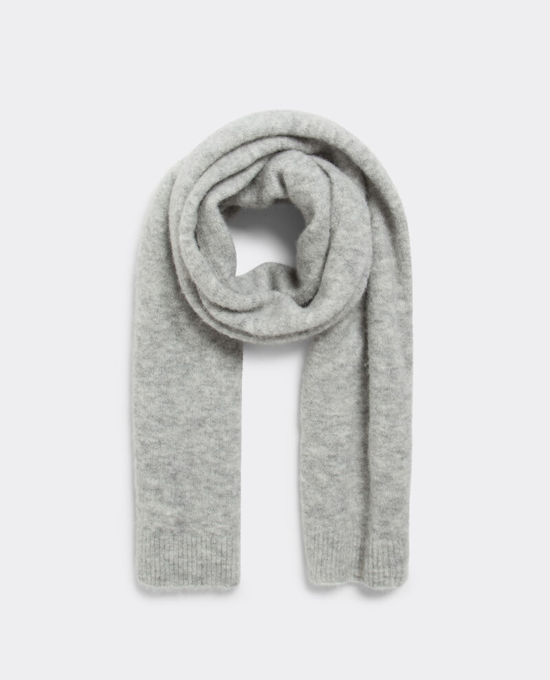 Bufanda con lana y alpaca Light grey Baples