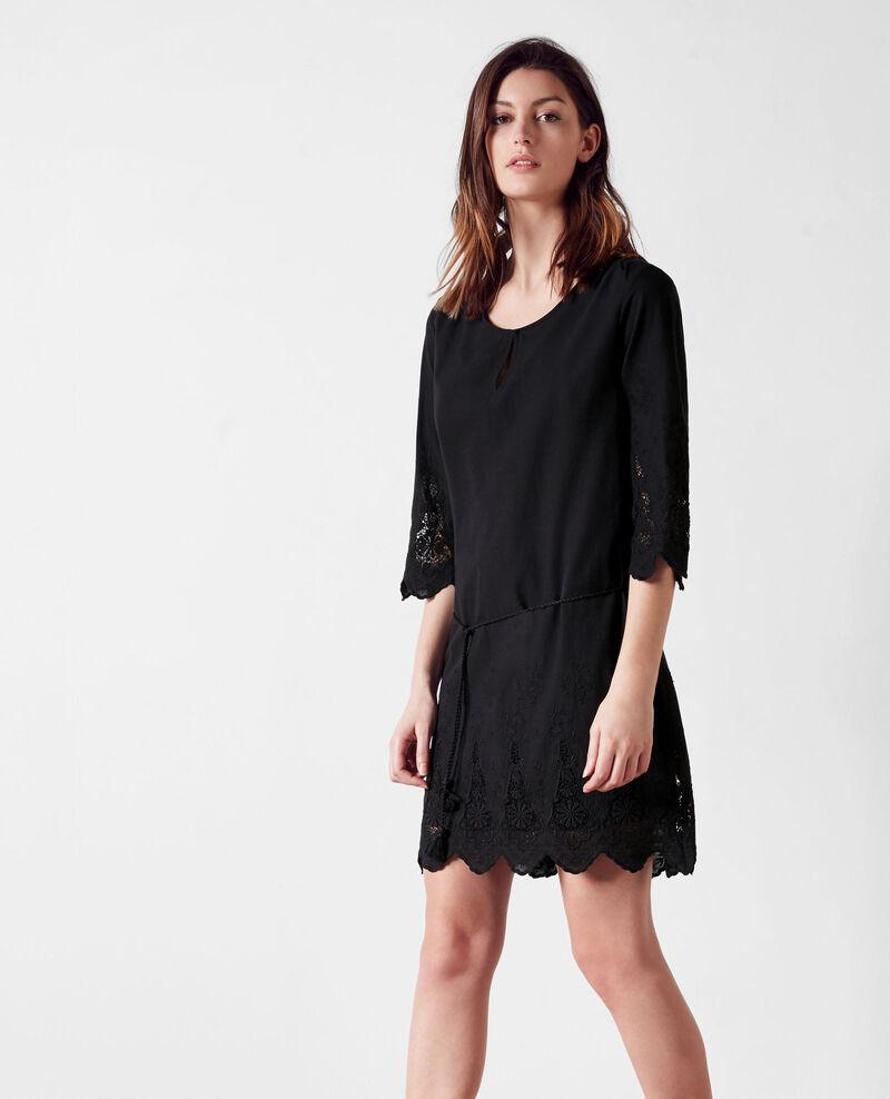 Robe avec broderies noir cimone comptoir des cotonniers - Robe patineuse comptoir des cotonniers ...