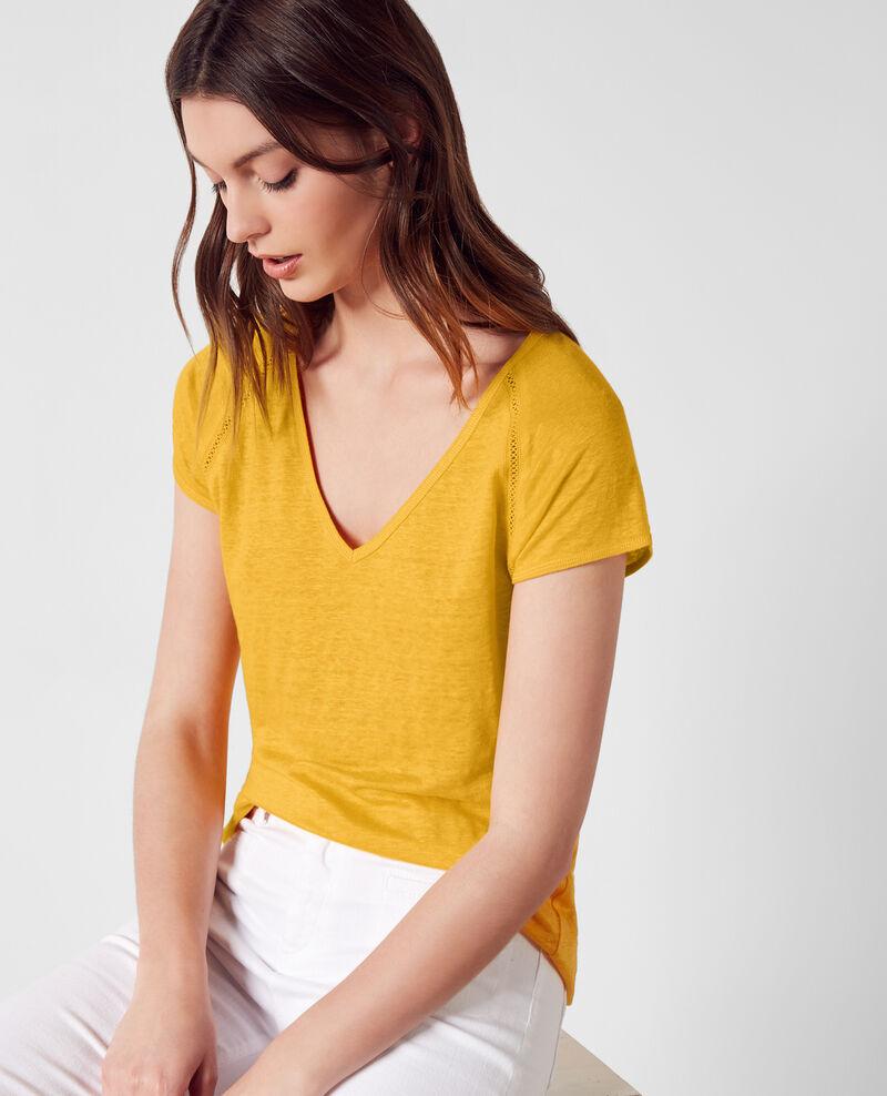 Leinen-T-Shirt Crayola Caramel