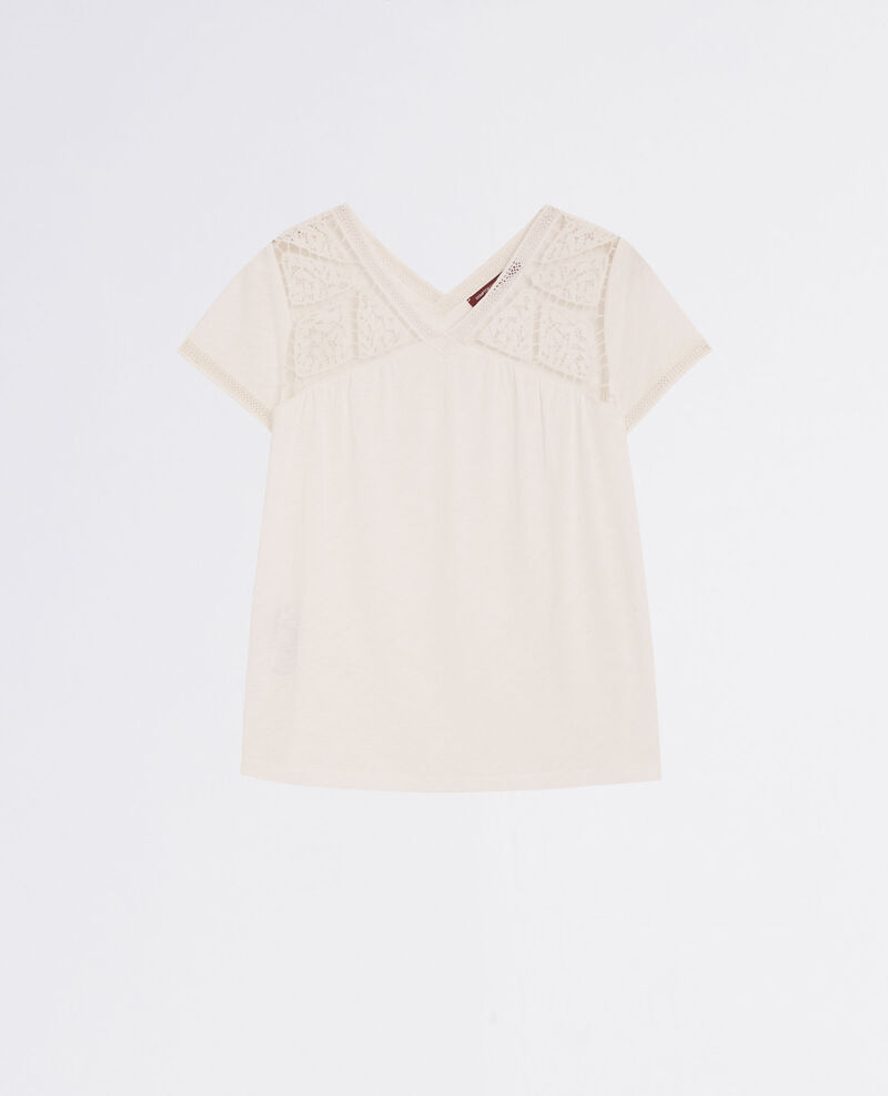 Besticktes T-Shirt Off white Colline