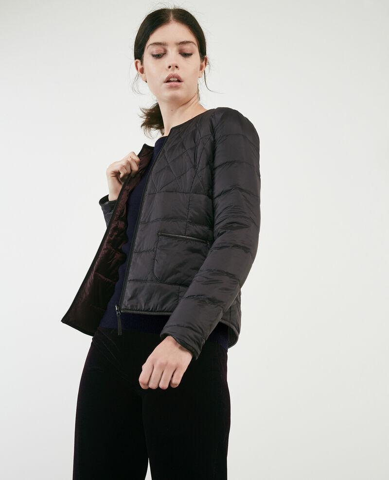 Doudoune mademoiselle plume classique noir maroon bidown - Doudoune light comptoir des cotonniers ...