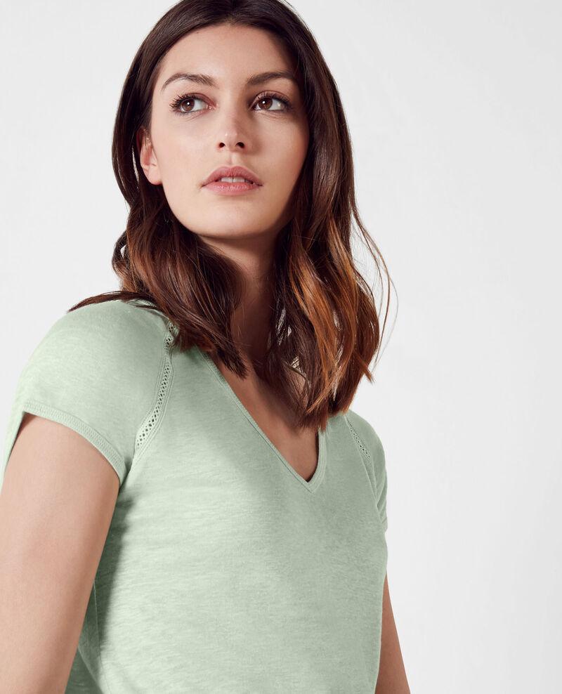 T-Shirt en lin Opaline Caramel