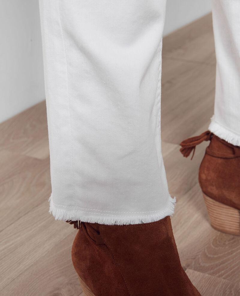 """Jeans boyfriend """"Garçon manqué"""" avec bords frangés Off white Camina"""