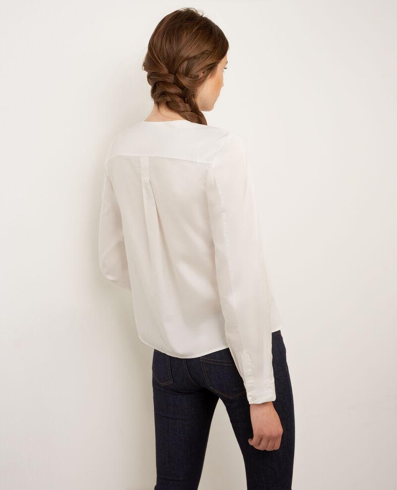Blusa casual de popelina Blanc Banjo