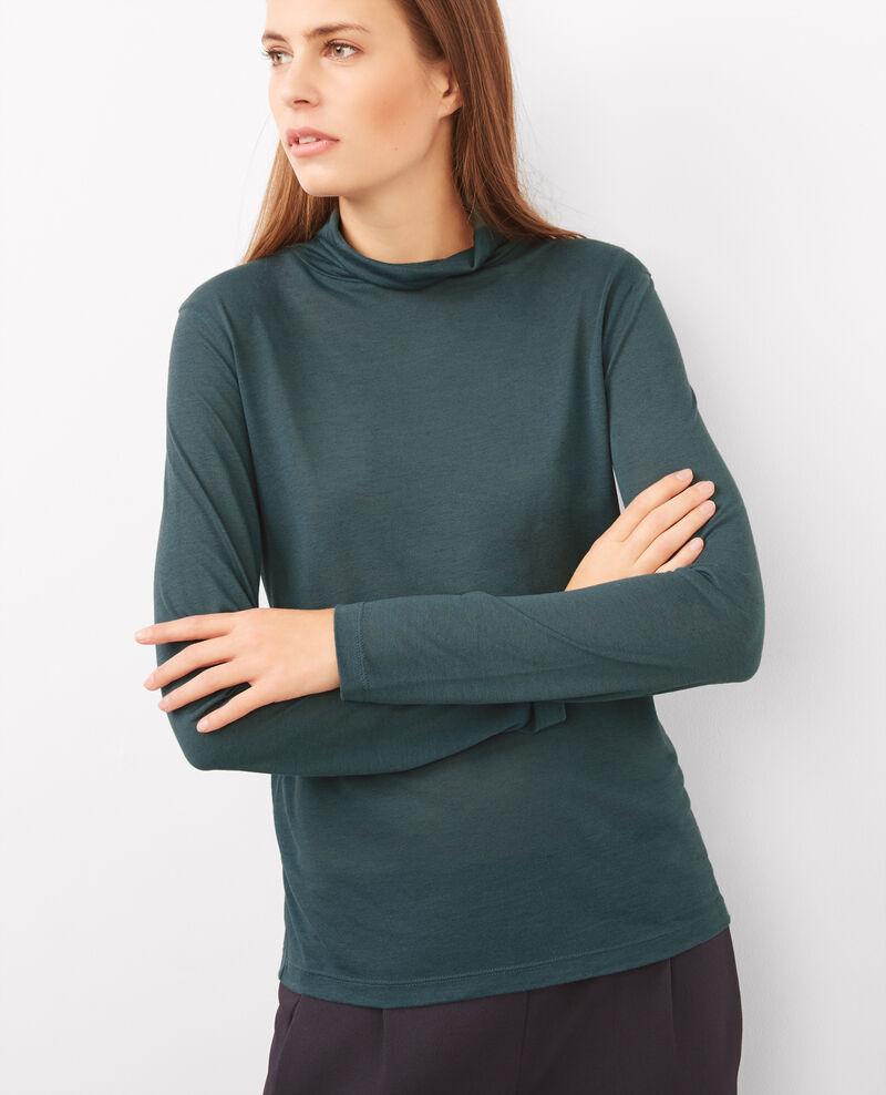 T-Shirt à manches longues et col roulé Bleu du soir Bellatre