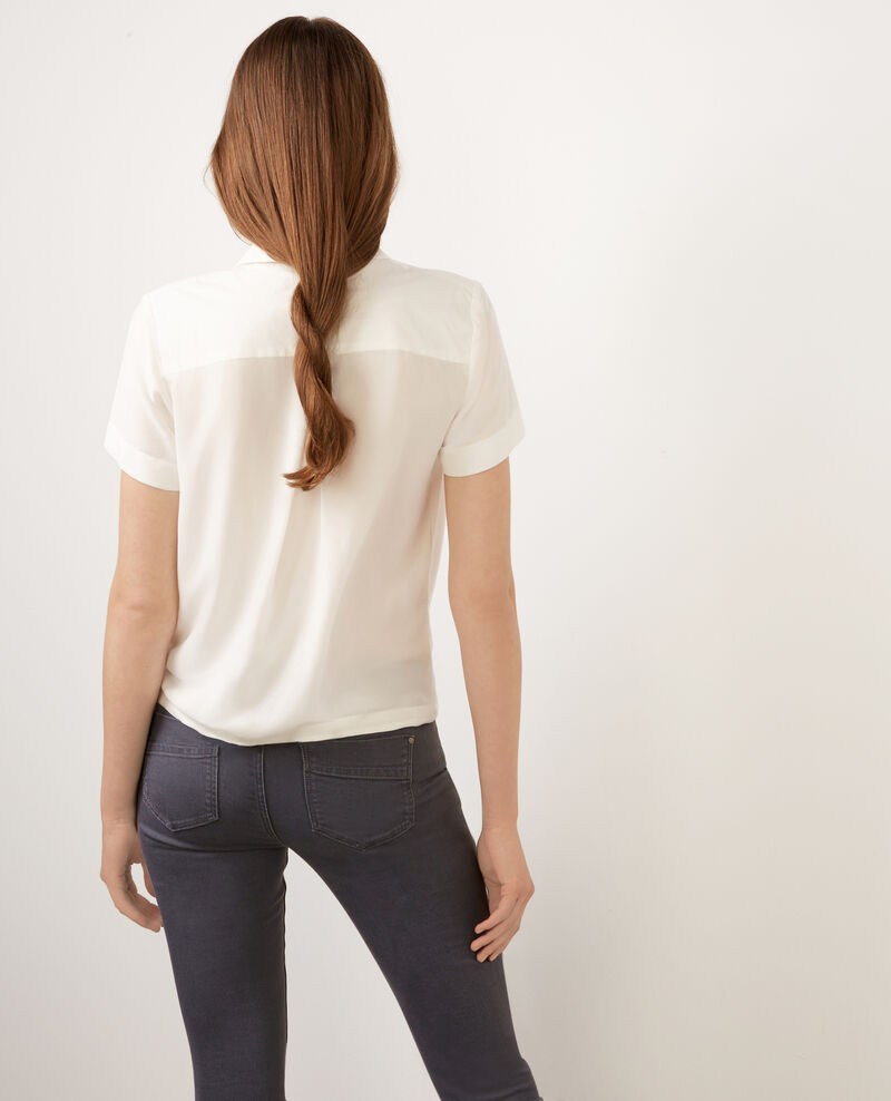 Top en crepe viscose Off white Bye bye
