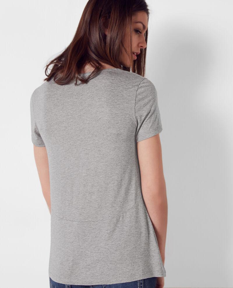 T-Shirt scintillant Gris chine Cygne
