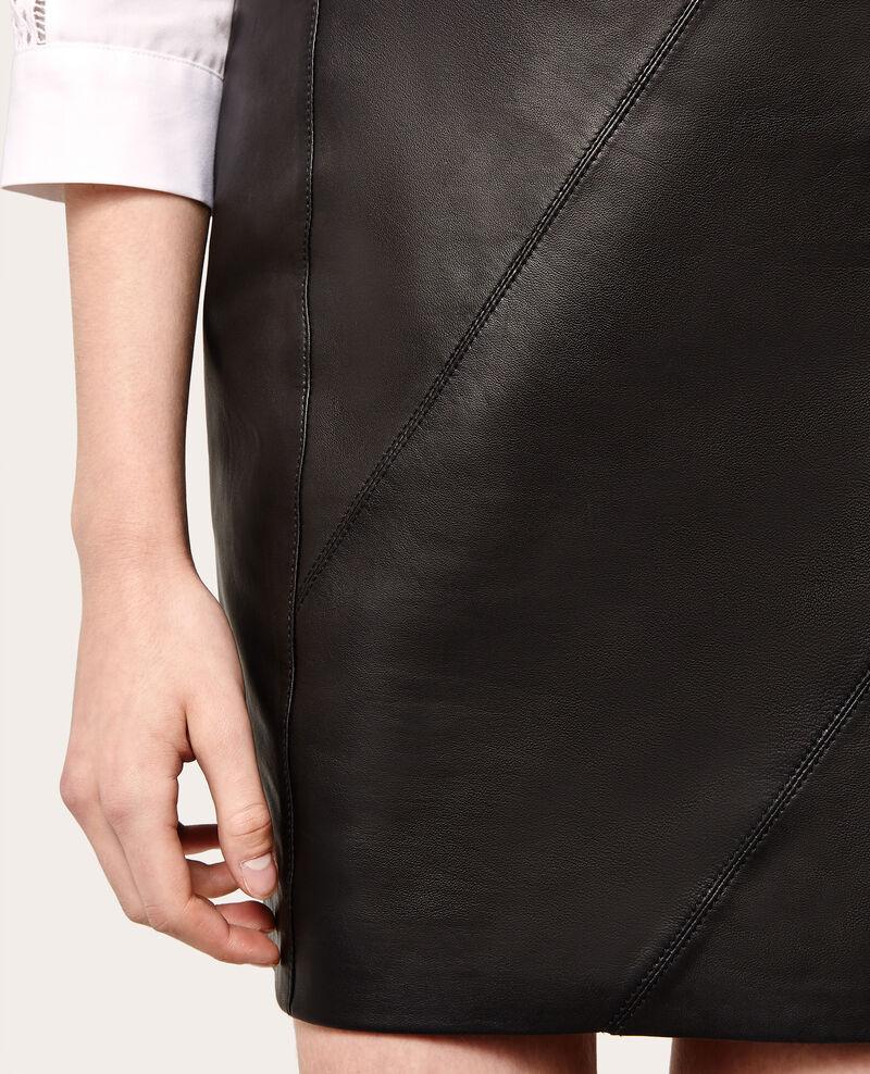 Mini falda de piel Noir Axilla