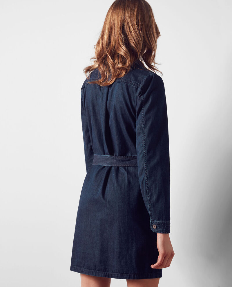Blusen-Kleid aus Denim Dark blue Creation